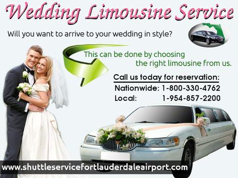 Choosing The Best Wedding Limousine Service   shuttleservicefortlauderdaleairport   Scoop.it