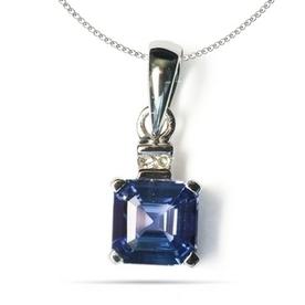 .78ct Emerald Cut Tanzanite Pendant with .02ctw Diamonds in 925 Sterling Silver   Tanzanite Pendants   Scoop.it