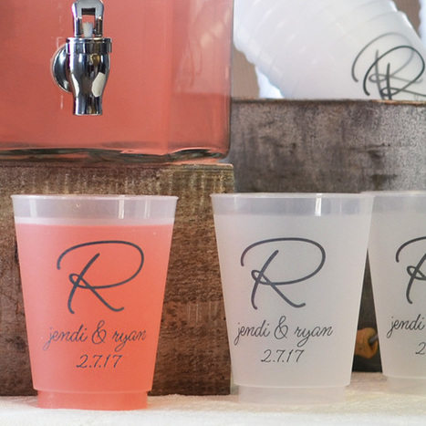 16 Oz. Custom Printed Frosted Plastic Wedding Cups   Event Accessories: Ideas, Designs, ETC.   Scoop.it
