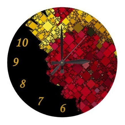 Red, Yellow and Gold Mini Box Template Wall Clock | Z Artwork | Scoop.it