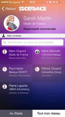 [Bon app'] Le Stade de France sort son application de networking et de réalité augmentée | FrenchWeb.fr | Benchmark Mobile User Interface | Scoop.it