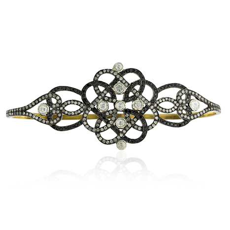 Black Diamond Gold Palm Bracelet | Diamond Jewelry | GemcoDesigns | Pave Diamond Palm Bracelets | Diamond Jewelry | GemcoDesigns | Scoop.it