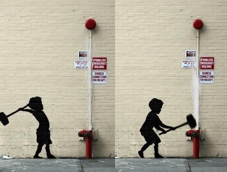 Street-art : les pochoirs de Banksy s'animent - Rue89 | Quand l'art investit la rue | Scoop.it