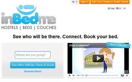 Inbed.me brings social media twist to bookings for hostels and couch shares | Tourism Social Media | Scoop.it