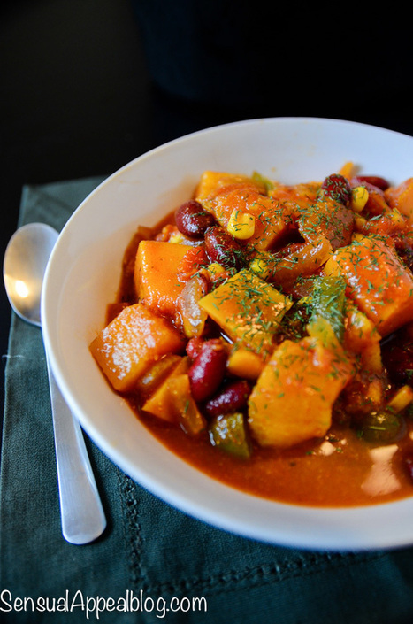 Vegan Butternut Chili {Healthy Crock Pot Recipe} - Sensual Appeal | My Vegan recipes | Scoop.it