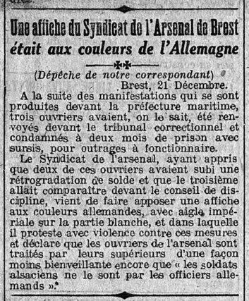 22 décembre 1913 : une affiche bretonne aux couleurs de l'Allemagne crée le scandale - Le Blog Généalogie - Toute l'actualité de la généalogie - GeneaNet   Rhit Genealogie   Scoop.it
