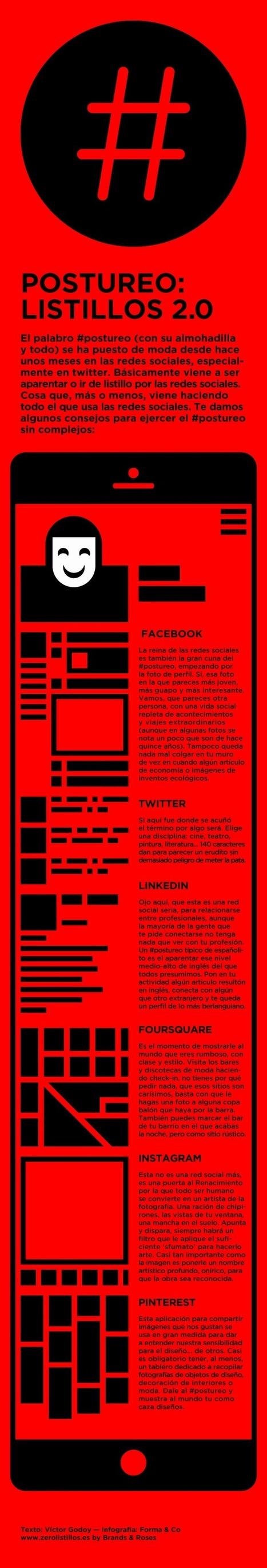 Cómo hacer #postureo en Redes Sociales #infografia #infographic #socialmedia | Seo, Social Media Marketing | Scoop.it