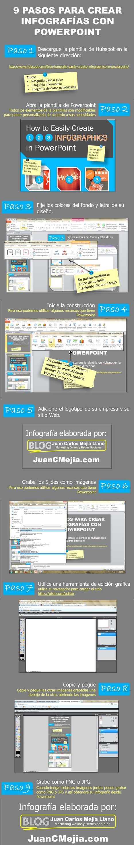 9 pasos para crear infografías con PowerPoint | Edumorfosis.it | Scoop.it