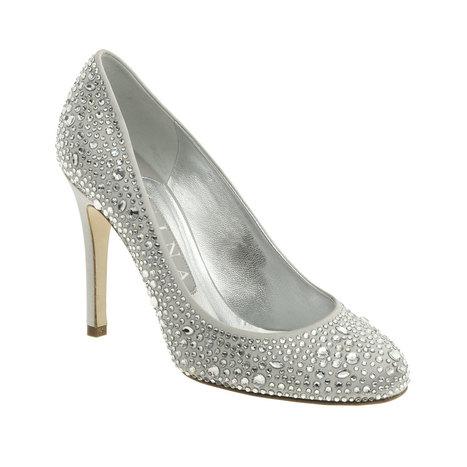 Gilda Light Grey Silk Swarovski Court 100mm Heel | GINA | Creative Heights: Reinventing The Heel of Designer Shoes. | Scoop.it