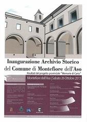 Montefiore dell'Aso: inaugurazione archivio storico   Généal'italie   Scoop.it