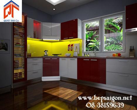 bepsaigon.net - Tủ bếp hiện đại nhà anh HẢI Q1 - HCM TB254 - | Tủ bếp Acrylic - MFC | Scoop.it