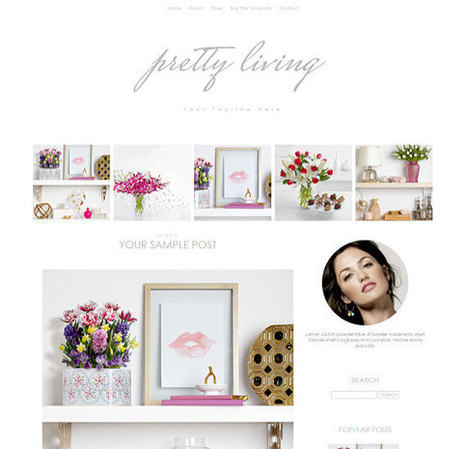 Responsive Blogger Template - Pretty Living - Premade Blogger Template - Blogger Theme - Blogspot Template - Instant Download | Blogger themes | Scoop.it