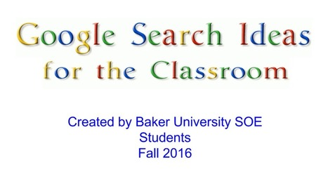 Google Search Tips - Fall 2016 | Educommunication | Scoop.it
