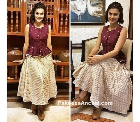 Taapsee Pannu in Ekta and Sonal Skirt Style | Indian Fashion Updates | Scoop.it