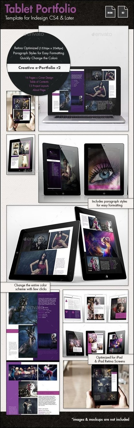 Creative Portfolio for Tablets r2 | GraphicRiver | About Design | Scoop.it