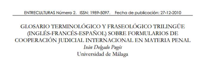 (ES) (EN) (FR) (PDF) - Glosario sobre formularios de cooperación judicial internacional | Iván Delgado Pugés | Glossarissimo! | Scoop.it