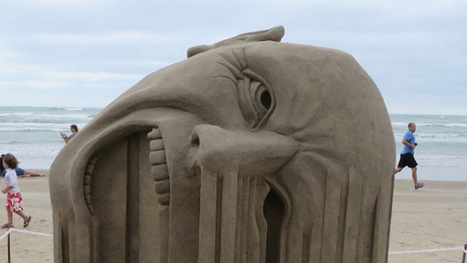 This remarkable sand sculpture will make your face melt | Strange days indeed... | Scoop.it