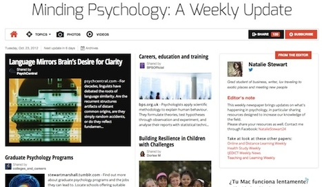 Oct 23 - Minding Psychology: A Weekly Update | Psychology Professionals | Scoop.it