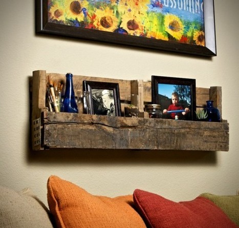 Pallet shelves | Let's Upcycle! | Scoop.it