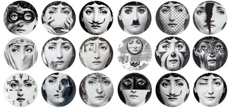39 fornasetti 39 in tissu d 39 ameublement art textile et papier peint de luxe. Black Bedroom Furniture Sets. Home Design Ideas