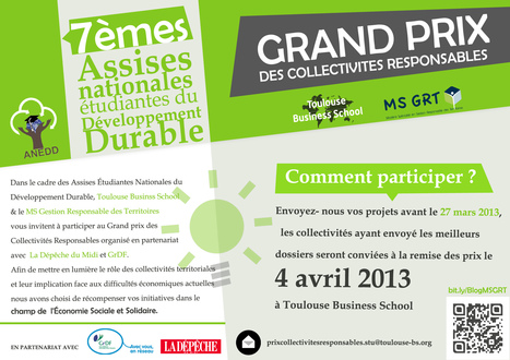 Grand Prix des Collectivités Responsables 2013 | Mastère Gestion Responsable des Territoires | Scoop.it