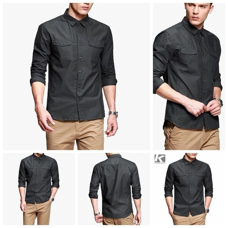 Fashion Mens Brand Luxury Casual Dress Shirts Slim Fitted Long Sleeve Shirt Sz M | Male Fashion Advice | Scoop.it