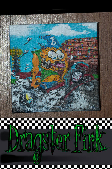 Original Painting on Canvas of a Dragster Fink | Fine Art and Illustration | Scoop.it