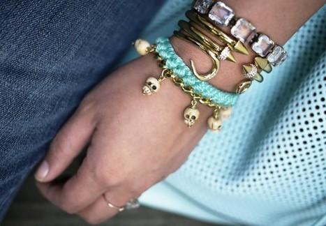DIY Woven Charm Bracelet | DIY bracelets | Scoop.it