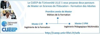 Master en Sciences de l'éducation - Formation des adultes - Université Lille 1 | CaféAnimé | Scoop.it