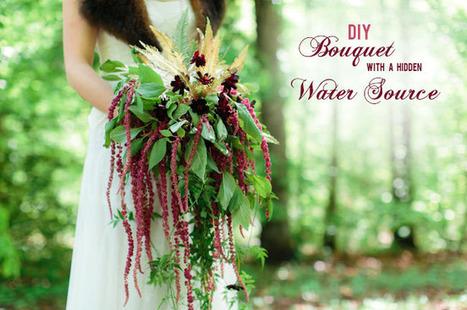 DIY: Bouquet with a Hidden Water Source | Green Wedding Shoes ... | DIY WEDDINGS | Scoop.it