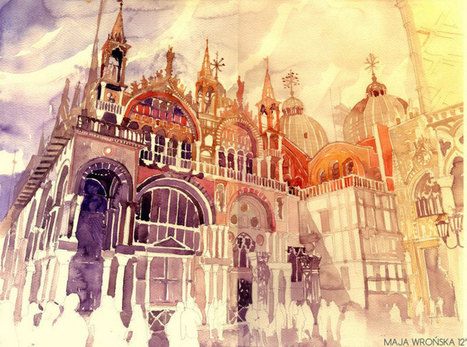 Watercolor Cityscapes by Maja Wronska   Aquarelles en scène   Scoop.it