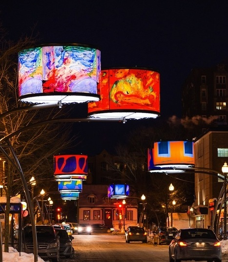 Dazzling Lampshades Beautify Quebec City's Cartier Avenue | Inspiration: Imagine. See the possibilities. | Scoop.it