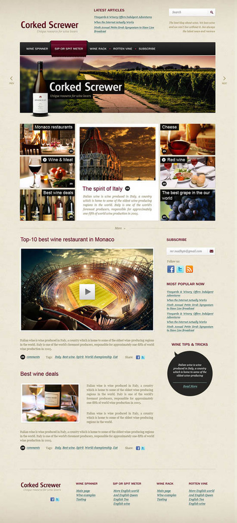 10 High-Quality Free PSD Templates | PSD | Internet astuces | Scoop.it