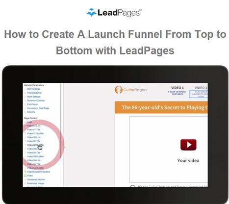 Create a Launch Funnel from Top to Bottom with LeadPages   Website Pages Advice   Scoop.it