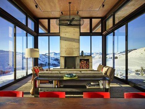 Belle maison bois contemporaine isolée dans les montagnes de Washington | Construire Tendance | Dans l'actu | Doc' ESTP | Scoop.it