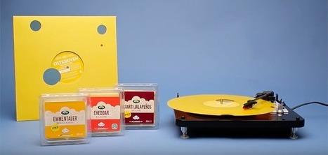 Un vinyle avec des trous pour promouvoir une marque de fromage | The Voice of Cheese | Scoop.it