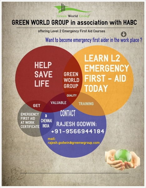 HABC – Level 2 Emergency First Aid at Work (QCF) - ( A Unit of Green World Charitable and Educational Trust ) | Nebosh Course Cochin | Scoop.it