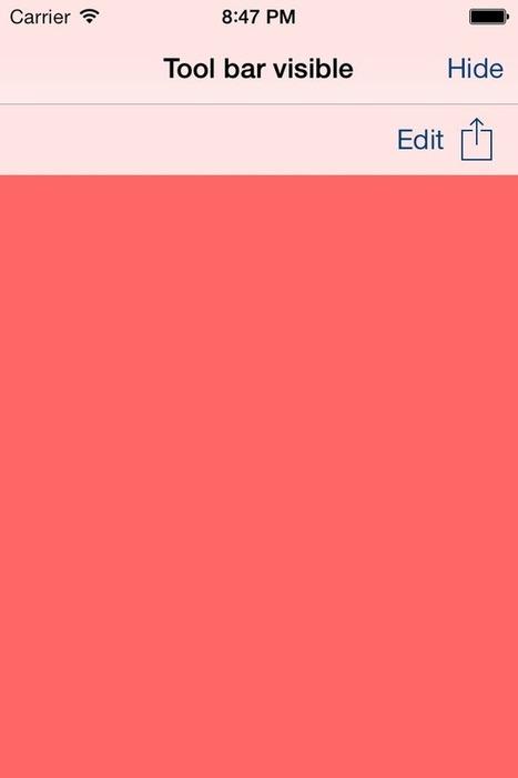 APDropDownNavToolbar for iOS - Cocoa Controls | iOS Dev | Scoop.it