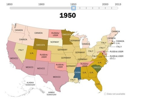 160 years of US immigration, mapped | Wonderful World of History | Scoop.it