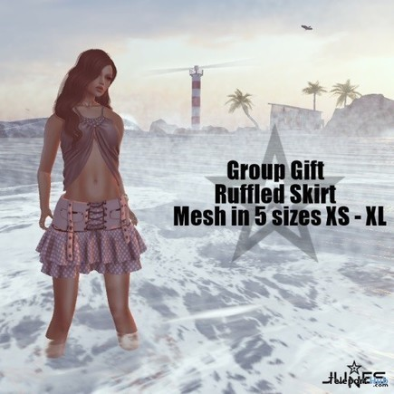 Ruffled Skirt Teleport Hub Group Gift by JUNES   Secondlife freebies   Scoop.it