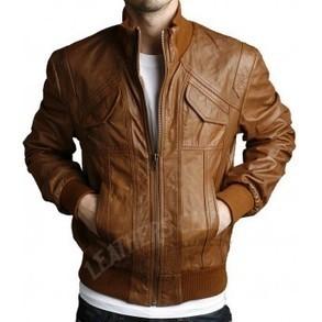 4 Pockets Slim fit bomber leather Jacket | Halloween Jackets | Scoop.it