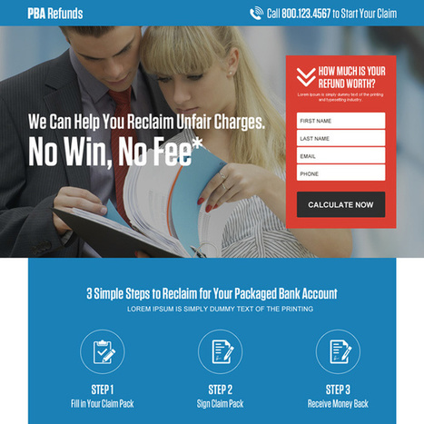 packaged bank account refunds responsive landing page | responsive landing pages | Scoop.it