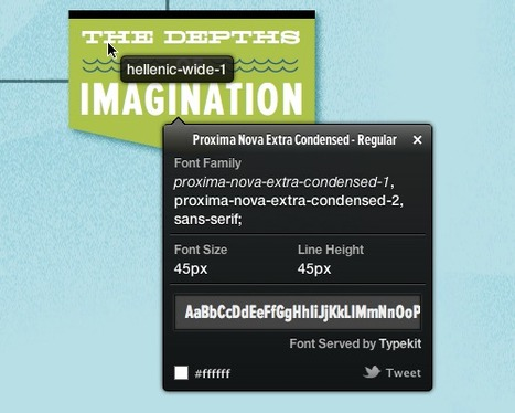 WhatFont Tool - The easiest way to inspect fonts in webpages « Chengyin Liu | Website Typography | Scoop.it