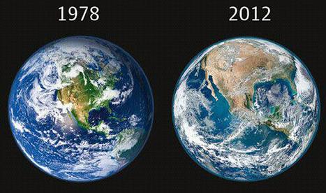 Imágenes. En 34 años la Tierra tiene más desiertos y menos áreas verdes | Agua | Scoop.it