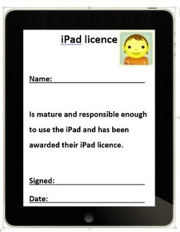 Printable iPad licence and rules for students - EdGalaxy.com | Kids and APPs | Scoop.it