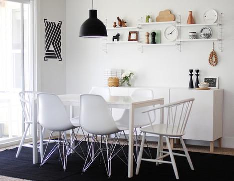 Visite déco : du noir et blanc très graphique chez A Merry Mishap | DecoCrush blog déco, idées déco | décoration & déco | Scoop.it