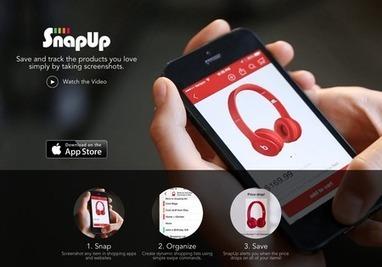 SnapUp une nouvelle expérience du social shopping avec des captures d'écran - servicesmobiles.fr | Digital commerce | Scoop.it