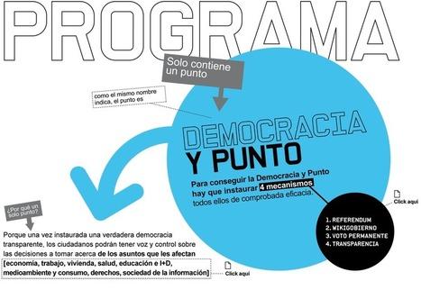 Programa. La Democracia y Punto | Partido X | Poder-En-Red | Scoop.it