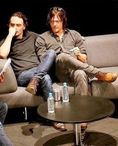 'The Walking Dead' stars Norman Reedus and Andrew Lincoln cuddle on a couch - Examiner.com | TV shows | Scoop.it