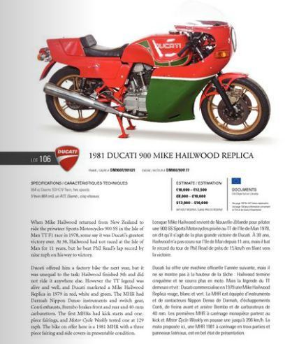 At Auction | 1981 Ducati 900 Mike Hailwood Replica | RM Auctions | Ductalk Ducati News | Scoop.it